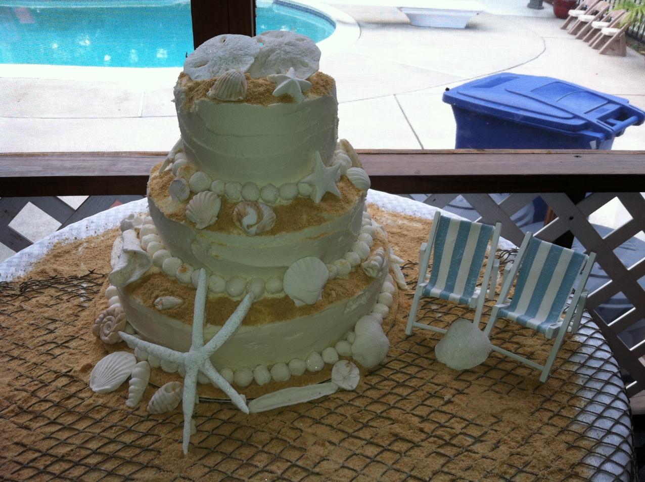 Tara and Bill Geisel Wedding Cake